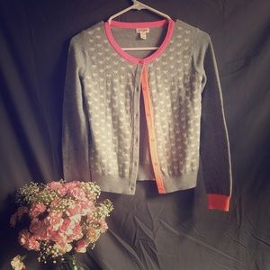 Polka dot hearts cardigan
